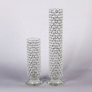 SHB034 Pujiang Wholesale High Quality Glass Crystal Flower Vases Wish Shinning Crystal Diamond For Wedding , Party , Home Decor