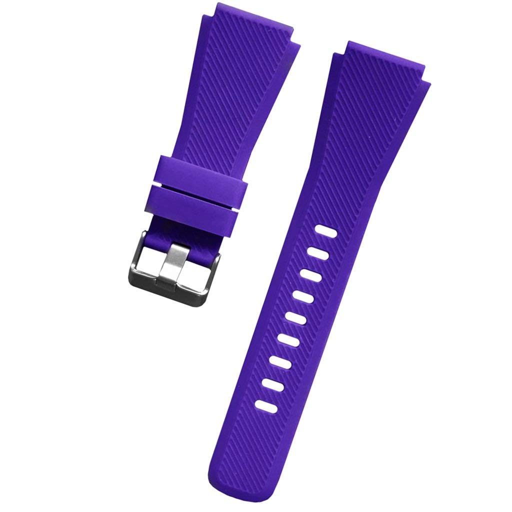 Flameer Band Strap For Samsung Gear S3 22mm Band, Soft Silicone Watch Band with Quick Release Pins - Choice Color 22mm Watch Straps Adjustable Metal Clasp