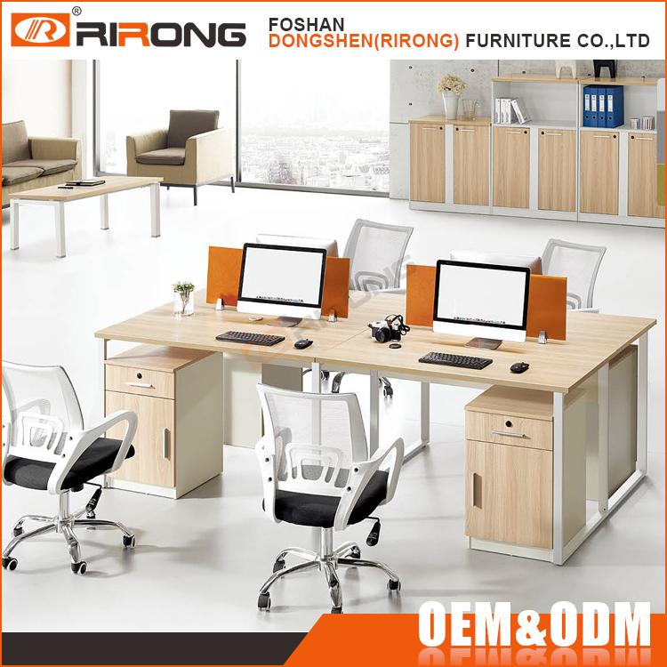 Moderno mobiliario de oficina modular de madera cub culo for Mobiliario oficina moderno