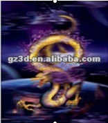 High quality PET 25X35cm hot 3d pictures natural animation of China dragons (2026)