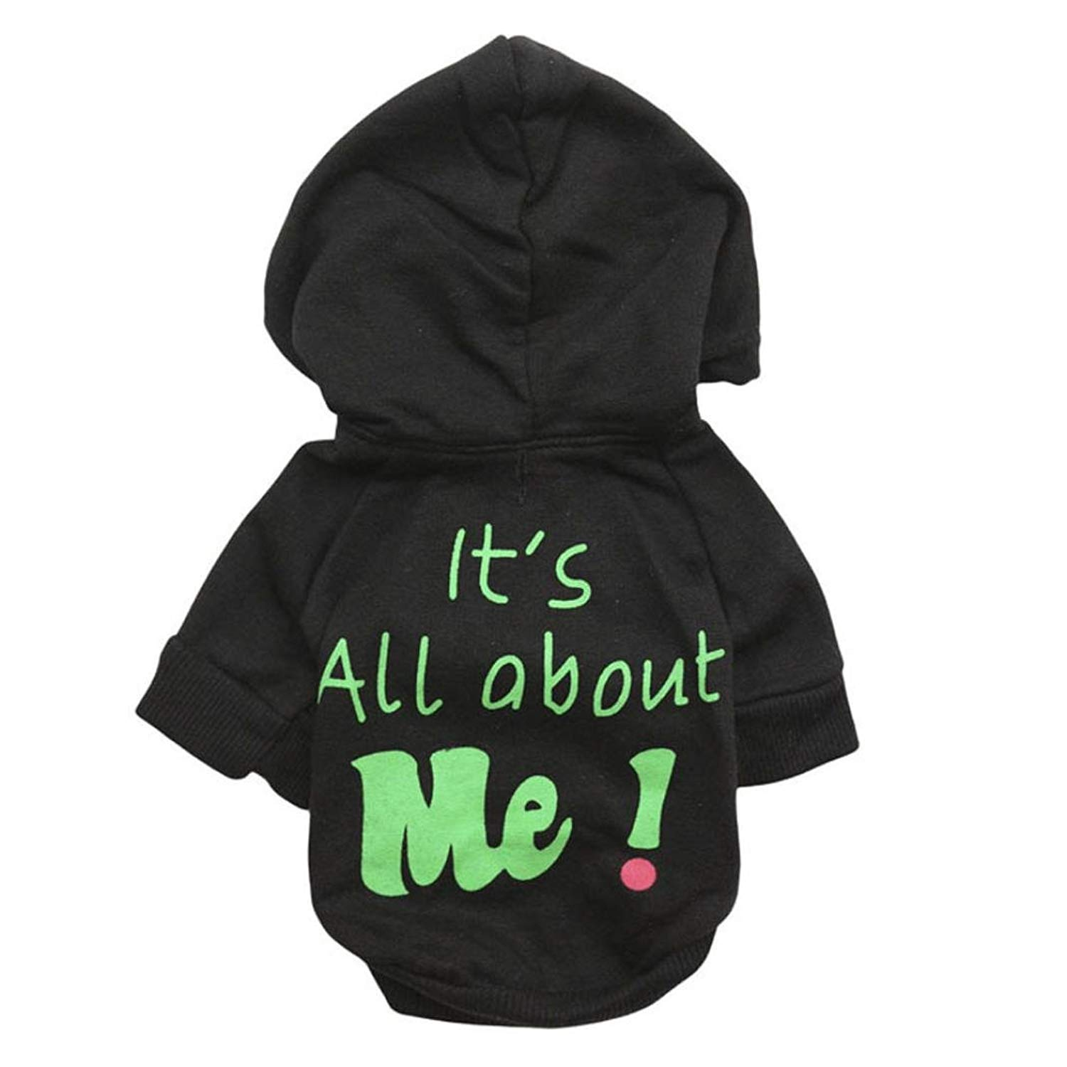 Howstar Pet Clothes, Warm Hoodie Coat Cute Dog Clothing It's All About Me Printed Shirt Doggie Costume