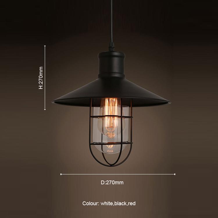 Rustieke Hanglampen Vintage Style Hanger Lampen Metalen Lampenkap Hanglamp  Ophanging Lineaire Verlichting Zwart