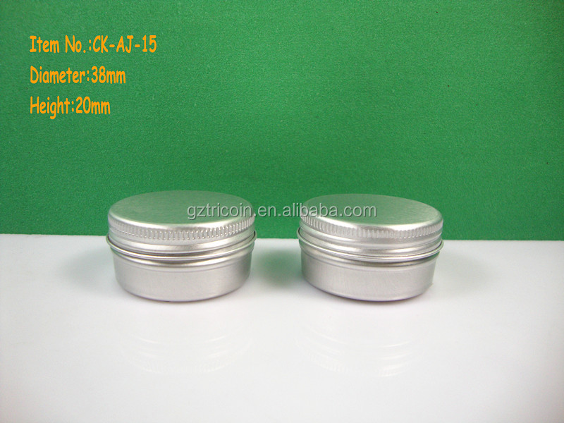15ML body scrub aluminum jar cosmetic 15ML