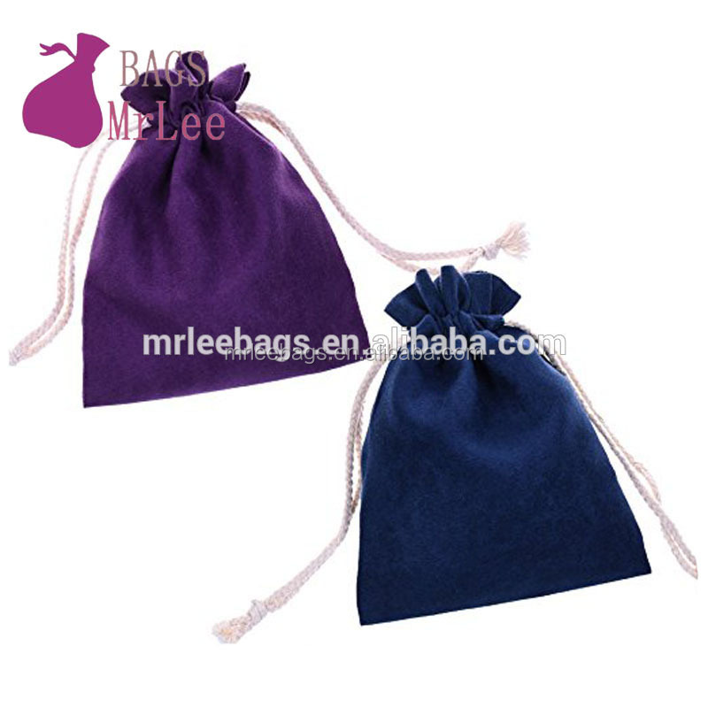 High quality suede drawstring jewelry pouches with lined