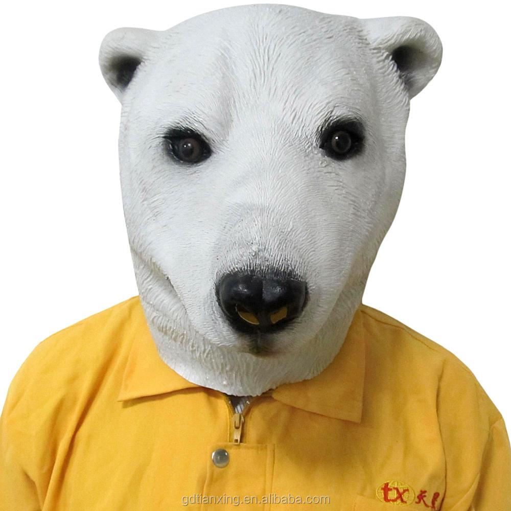 Halloween Rare Animal Mask Full Head Face Polar Bear Latex Masker Buy Maskrare Animalpolar Product On