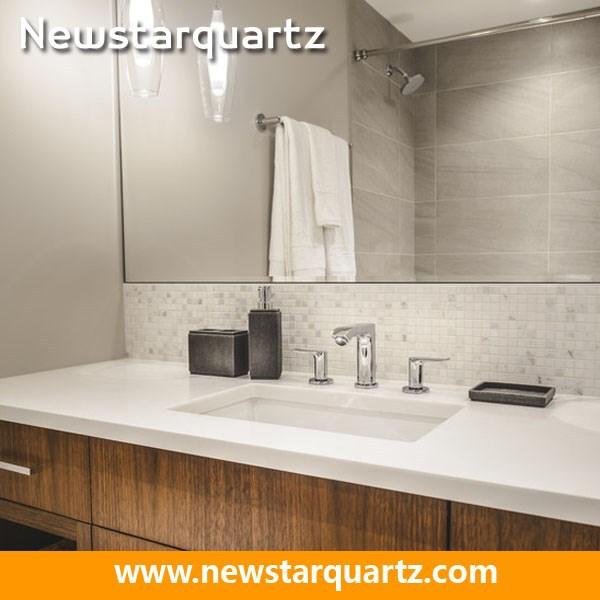 Quartz Bathroom Vanity Countertops With Built In Sink