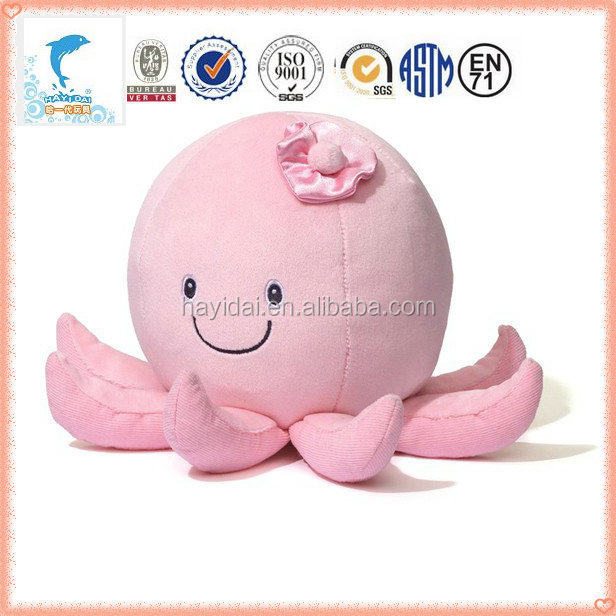 2015 hot sale new cute round smiling emoji pink pillow with stuffed toys