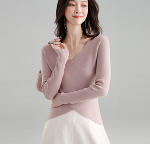 women's knitwear women's woolen bottom blouse women's top
