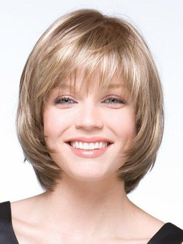 Боб короткая прямой блонд парик для женщины Peluca Peruca сексуальный синтетический волос парики полный парик с боковыми ударами