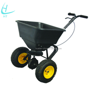 Garden tool cart lawn Fertilizer Spreader, Salt Seed Spreader
