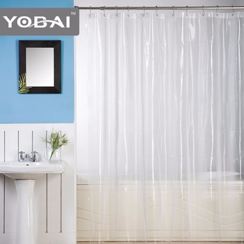 Transparent Pvea Clear White Shower Hotel Peva Curtains - Buy
