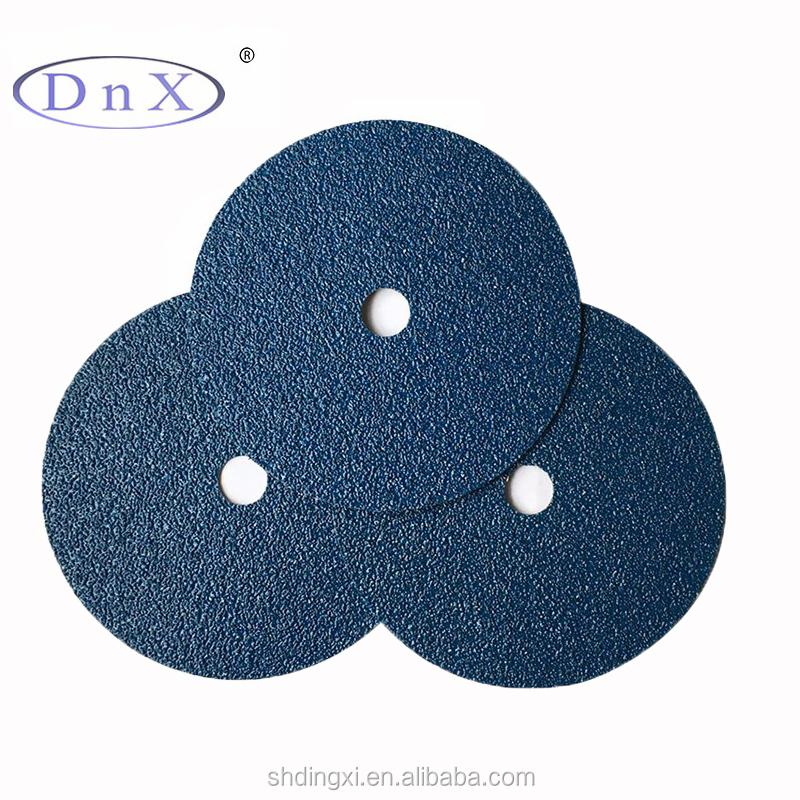 प्रचारक मूल्य एल्यूमिनियम ऑक्साइड घर्षण 4 inches थोक व्यापारी के लिए सूती कपड़े के साथ फाइबर डिस्क