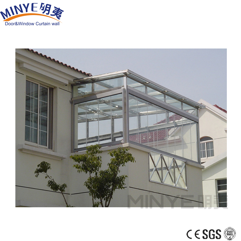 2018 aluminum sun room/ sunroom / glass house/ winter garden/greenhouse made in china shanghai