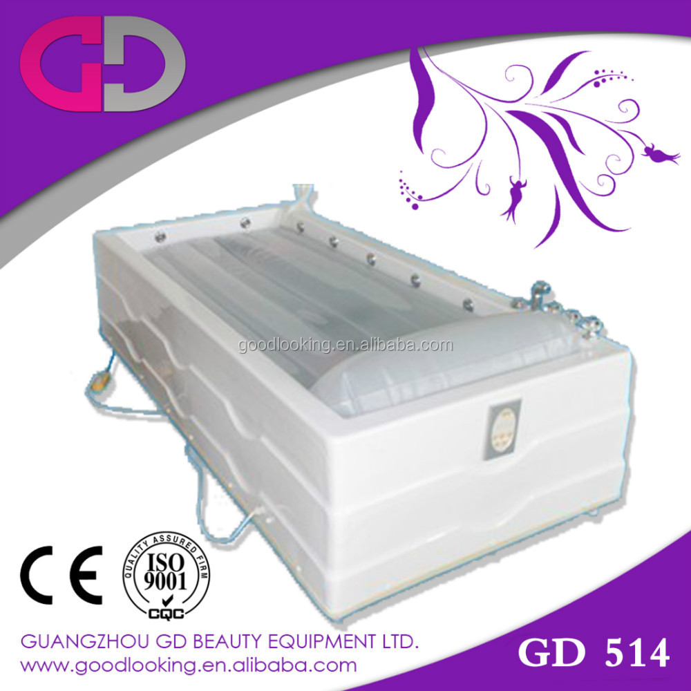 best selling chinese Hydrotherapy Salt Bath Massage Spa Capsule Bed