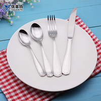 Stainless steel hotel cutlery silver plated tableware