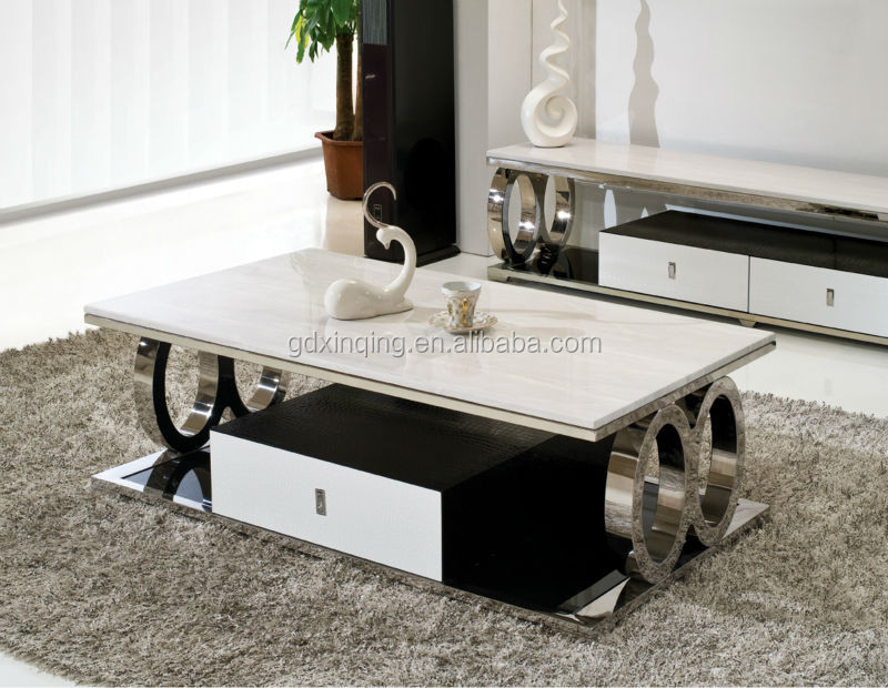 C363 wholesale living room marble modern wooden oak coffee for Best centre table designs
