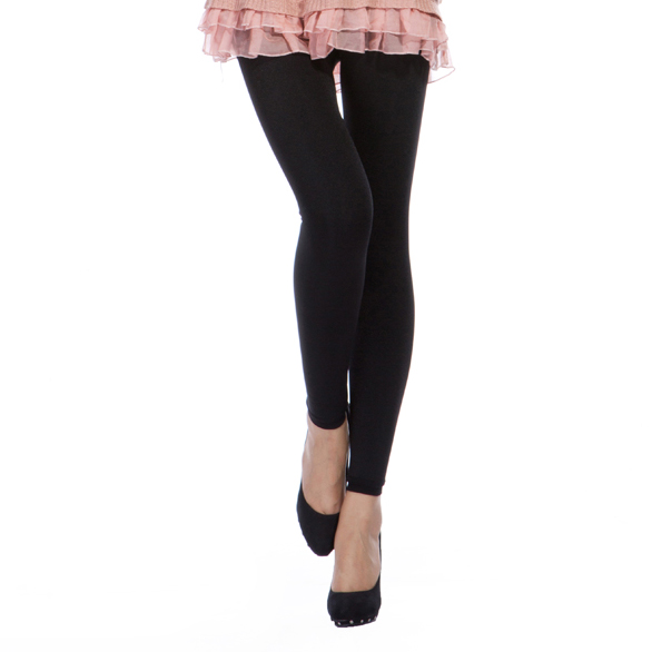 Dames sexy spandex en nylon zwart double layer leggings
