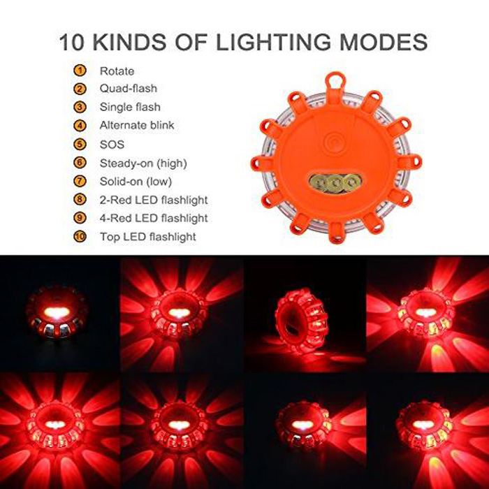 Car Led Road Flares Emergency Warning Safety Light kit for Amazon