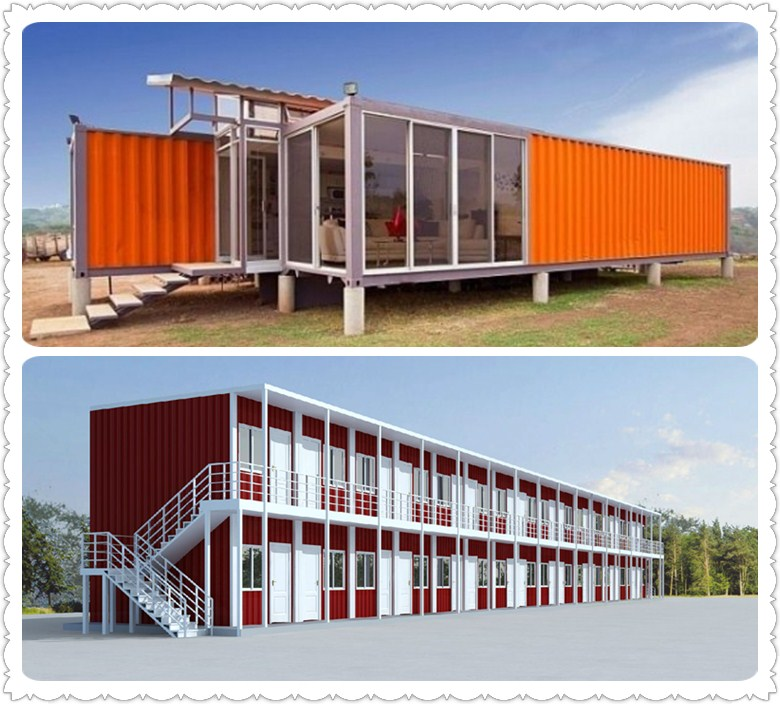 Multi-storey luxury combined prefab living 20ft container house