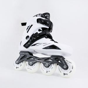 2018 Professional 34 High Rebound Rubber PU 110/100/90mm wheels CNC Aluminum ChassisFreestyle Inline Speed Skates