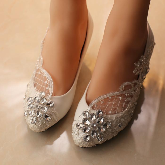 2a78bb04387 White wedding heels with rhinestones - photo 8