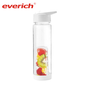 Everich Good Reputation BPA Free Fruit Plastic Water Bottle Fruit Infuser,Custom Water Bottle Manufacturing