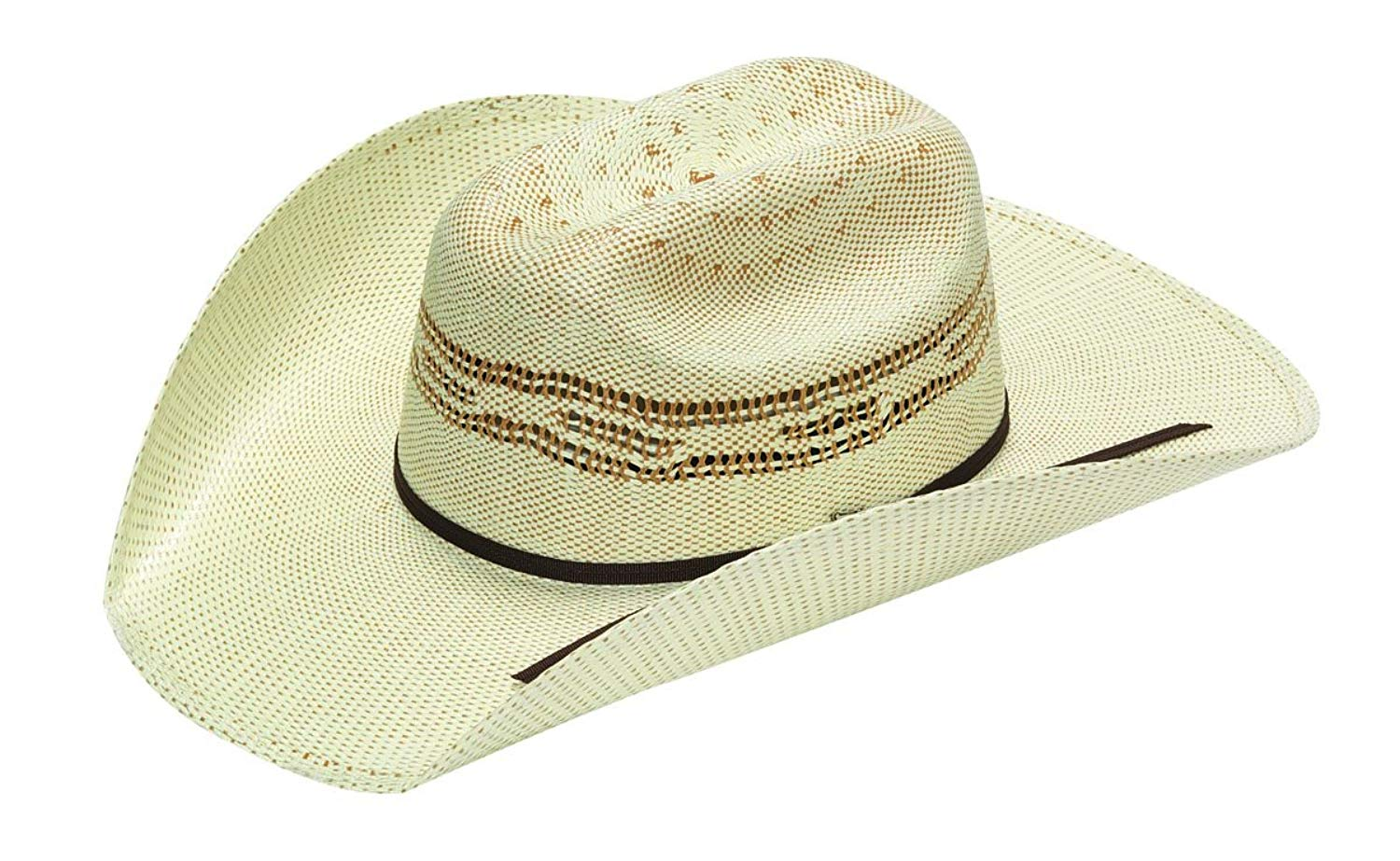 ca74c22ce27 Get Quotations · Twister Western Cowboy Hat Boys Cattleman Bangora Straw  Natural T71630