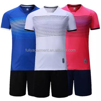 45412642dac5a OEM personalizado su logotipo uniforme de fútbol en blanco Jersey de fútbol  para hombre