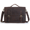 In Stocks Vintage Full grain crazy horse leather mens laptop messenger bag