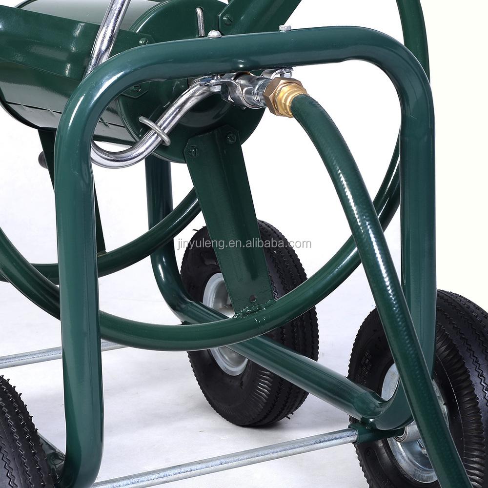 300ft outdoor green thumb garden hose reel cart