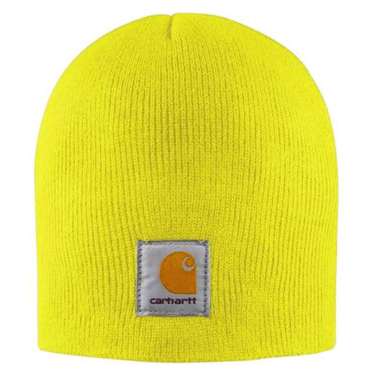 c43fe5b1ff3 Get Quotations · Carhartt Acrylic Knit Beanie - Yellow CHA205BLM Mens  Winter Beanie Wool Hat