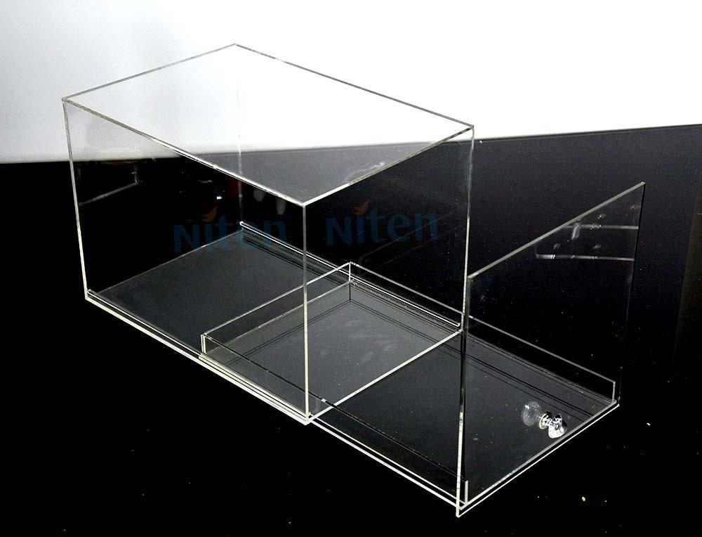 Acrylic Shoe Boxes : Transparent acrylic shoe box boxing glove display case