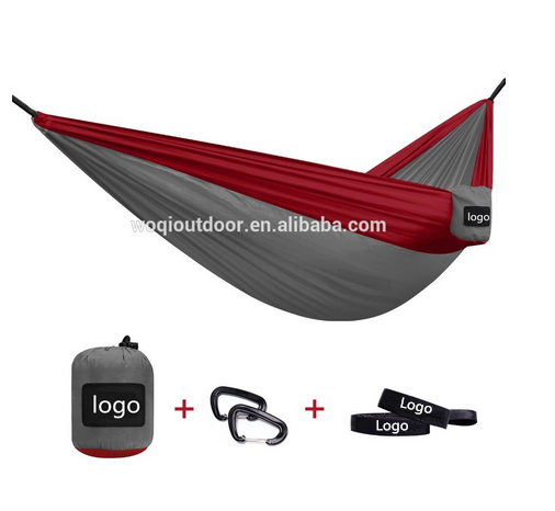 Double Camping Durable Ripstop Nylon Hammock with Fully Adjustable Cinch Buckle Hanging Strap Suspension