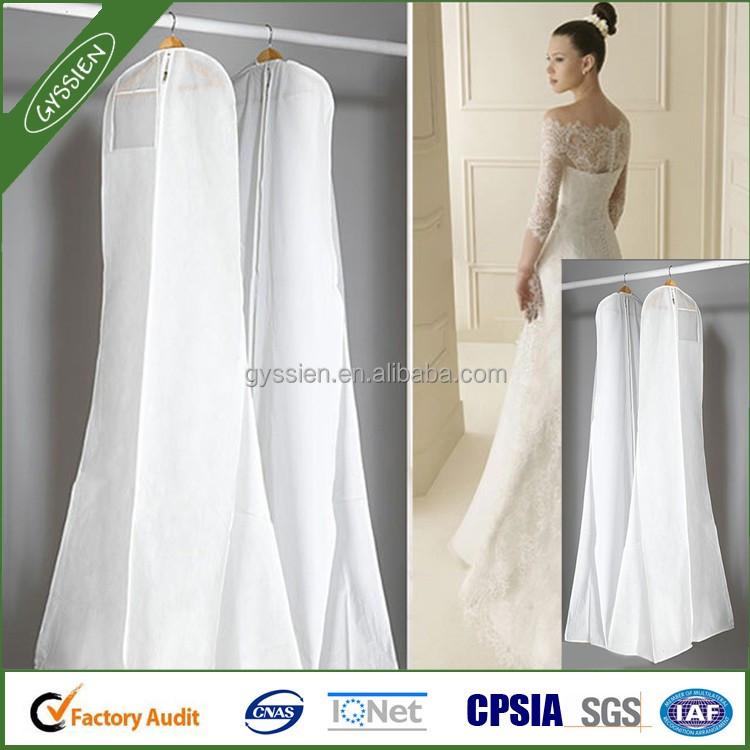 Custom Logo Non Woven Bridal Wedding Dress Cover Bag For Garment