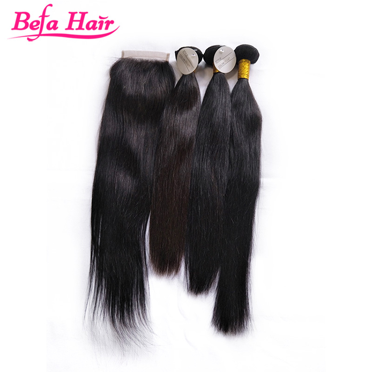 Premium grade wholesale virgin human hair straight wefts
