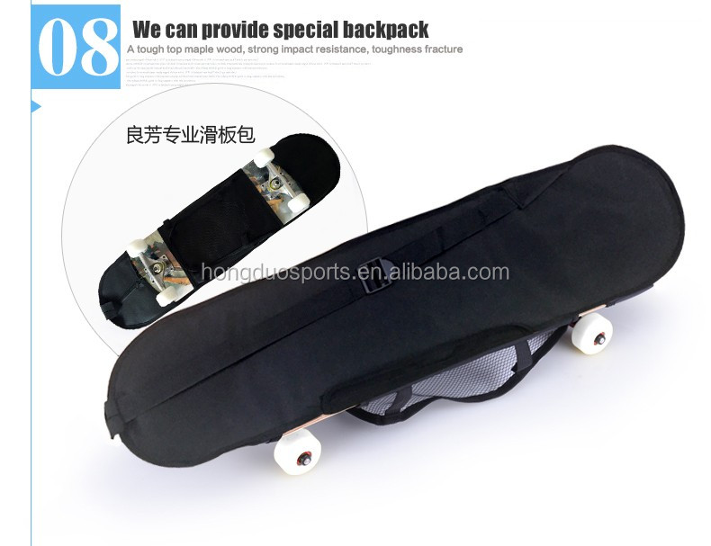 four wheels maple skateboard