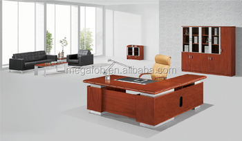 High End Wood Veneer Office Furniture Managing Director Desk Foh A4318
