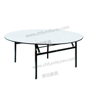 YC-T07-20 High Quality wedding banquet 6ft round PVC folding hotel tables