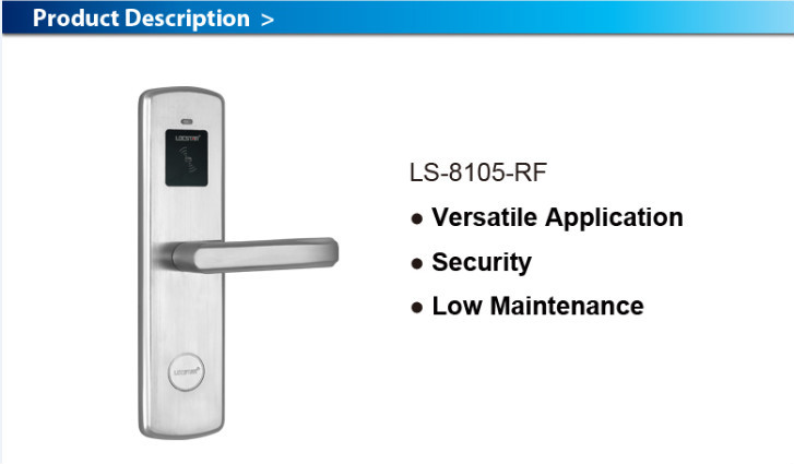 Ls8105 Swipe Card Digital Electric Wifi Door Handles And