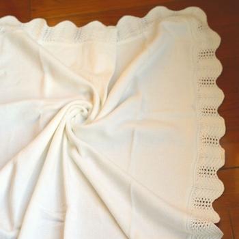50db76-2 100% Baumwolle Plain Stricken Baby Handgemachte Häkeln Rand ...