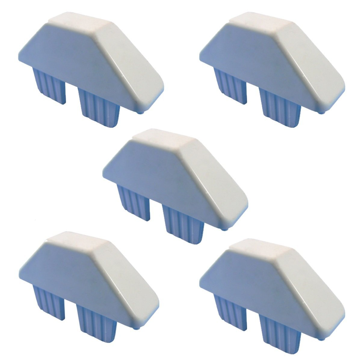 """Vinyl Picket Fence Caps - 7/8"""" x 3"""" Dog Eared Style Vinyl Fence Picket Caps - WHITE Picket Caps - 5 PACK"""