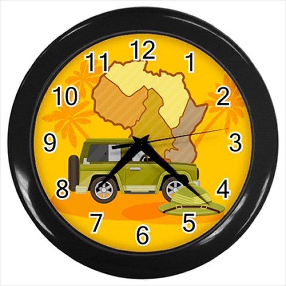 Kidozooo African Safari Wall Clock Black