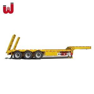 Transport Small Horse Tri-Axle Flat Low Bed Deck Refrigerated 20FT Hino Container Semi Truck Trailer