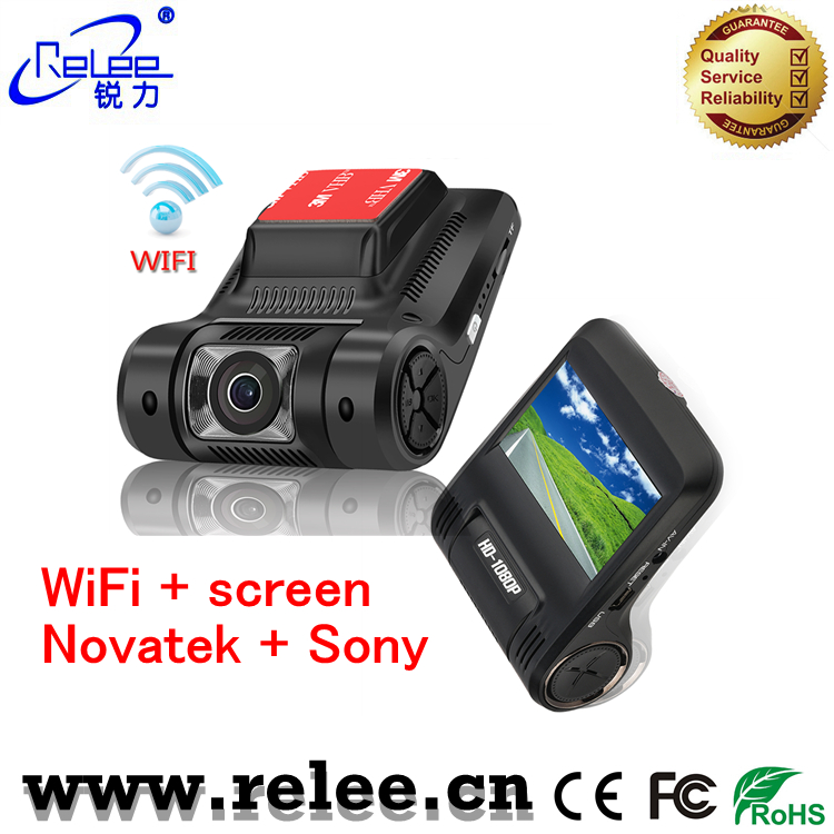 Top quality Novatek chip 12V DC vehicle DVR mini car CCTV camera video recorder with infrared night vision G-sensor
