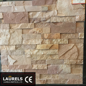 Cream Natural Stone Slate Slab Wall
