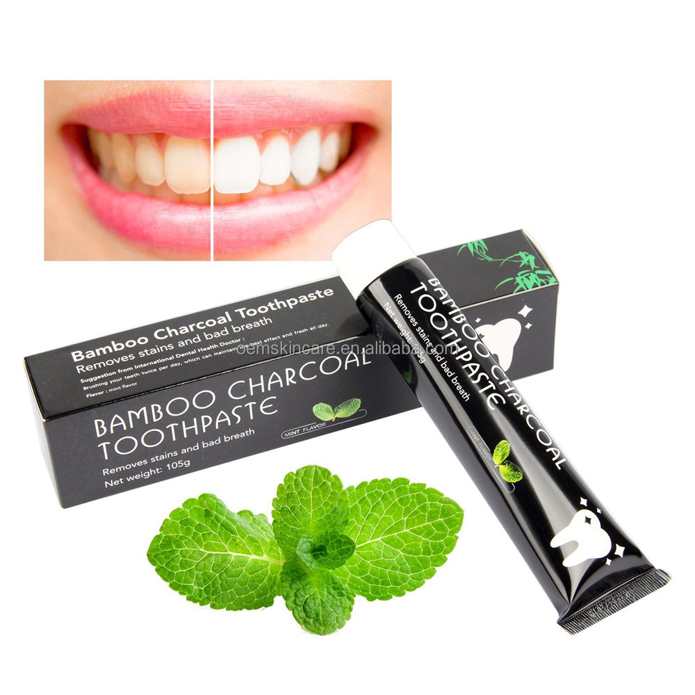 High Quality Bamboo Activated Charcoal Teeth Whitening Toothpaste