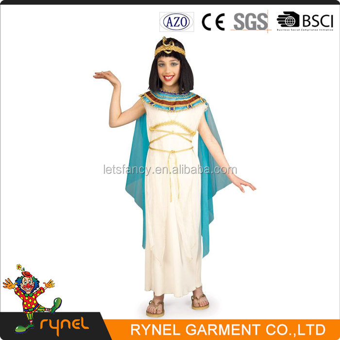 PGCC4673 Childrens Egyptian Ancient Costumes Fancy Dress Girls Cosplay Costumes