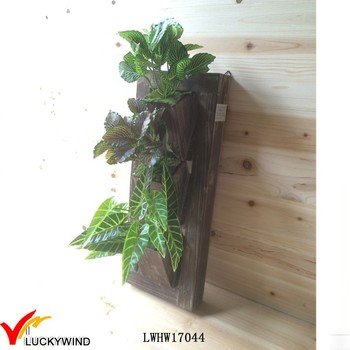 Small Vintage Wood Vertical Hanging Plant Holders Buy Hanging