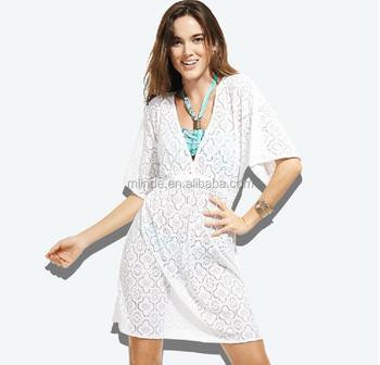 e8d38447880bd2 wholesale women ladies beach dresses cover up cotton european style Lace  Crochet Bikini Swimwear Cover Up