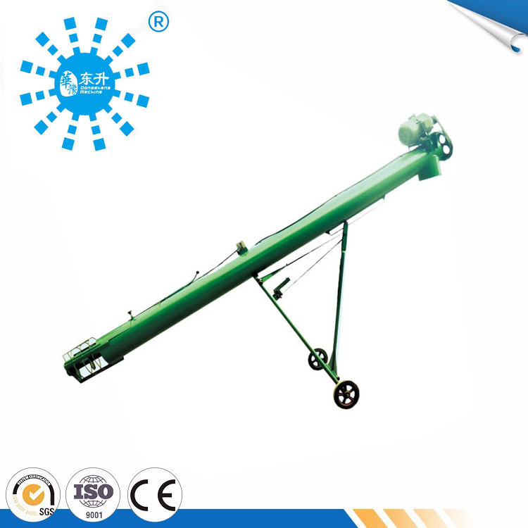 High speed flexible screw conveyor for bulk grain